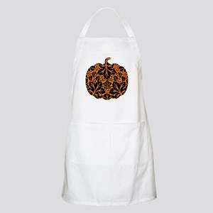 Damask Pattern Pumpkin Apron