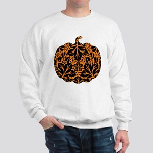 Damask Pattern Pumpkin Sweatshirt