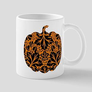 Damask Pattern Pumpkin Mug