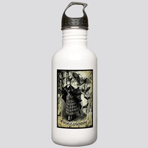 Victorian Halloween Bat Collage Stainless Water Bo