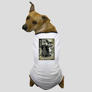 Victorian Halloween Bat Collage Dog T-Shirt