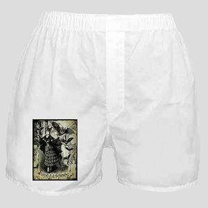 Victorian Halloween Bat Collage Boxer Shorts