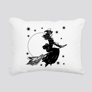 Old Fashioned Witch Rectangular Canvas Pillow