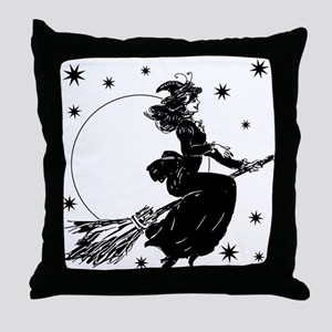 Old Fashioned Witch Throw Pillow