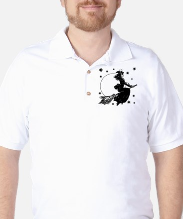 Old Fashioned Witch Golf Shirt