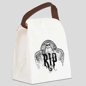 Halloween Tombstone RIP Canvas Lunch Bag