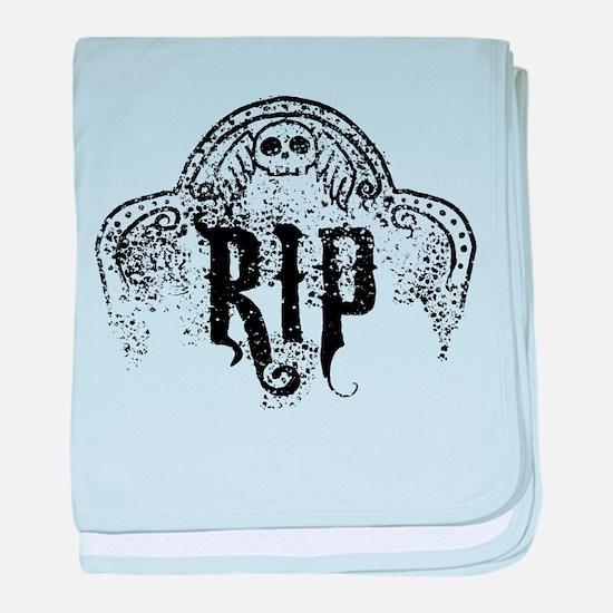 Halloween Tombstone RIP baby blanket