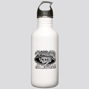 Vintage Catrina Calavera Stainless Water Bottle 1.