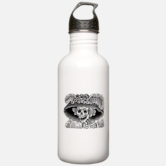 Vintage Catrina Calavera Water Bottle