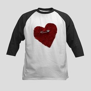Pinned On Heart Kids Baseball Jersey