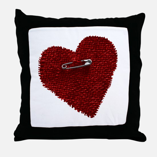 Pinned On Heart Throw Pillow