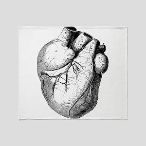 Anatomical Heart Throw Blanket