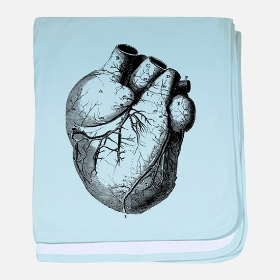 Anatomical Heart baby blanket