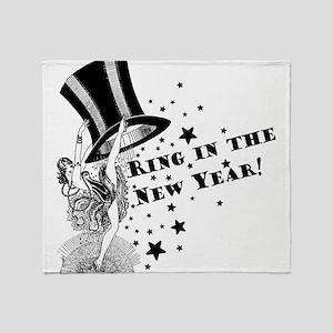 Vintage Showgirl New Year Throw Blanket