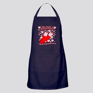 No Valentine Fresh Batteries Apron (dark)