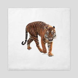 Roaring tiger Queen Duvet