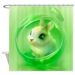 Whimsical Candy Color Pet Bunny Shower Curtain