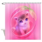 Whimsical Candy Color Pet Kitten Shower Curtain