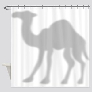 Camel Shadow Silhouette Shower Curtain