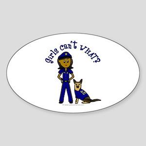 Dark K-9 Police Oval Sticker