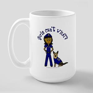 Dark K-9 Police Large Mug