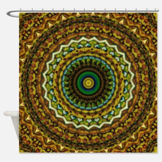 Eastern Promise Mandala Pattern Shower Curtain