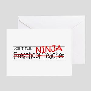 Job Ninja Preschool Greeting Card