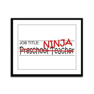 Job Ninja Preschool Framed Panel Print