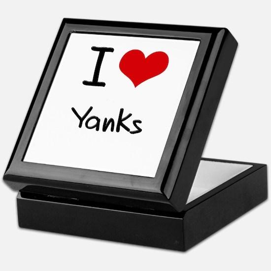 I love Yanks Keepsake Box