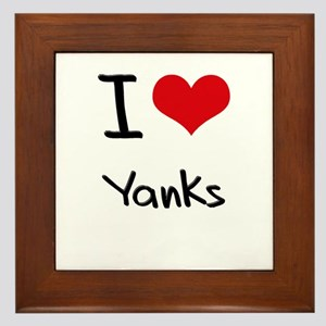 I love Yanks Framed Tile