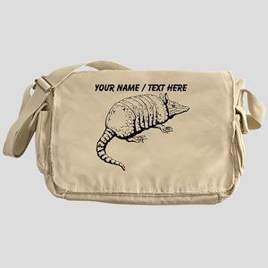 Custom Armadillo Sketch Messenger Bag