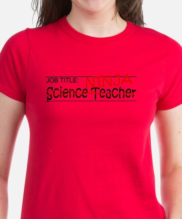 Job Ninja Science Teacher Women's Dark T-Shirt
