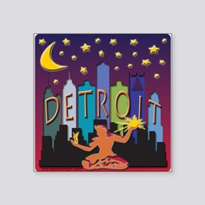 Detroit Skyline Mega Color Sticker