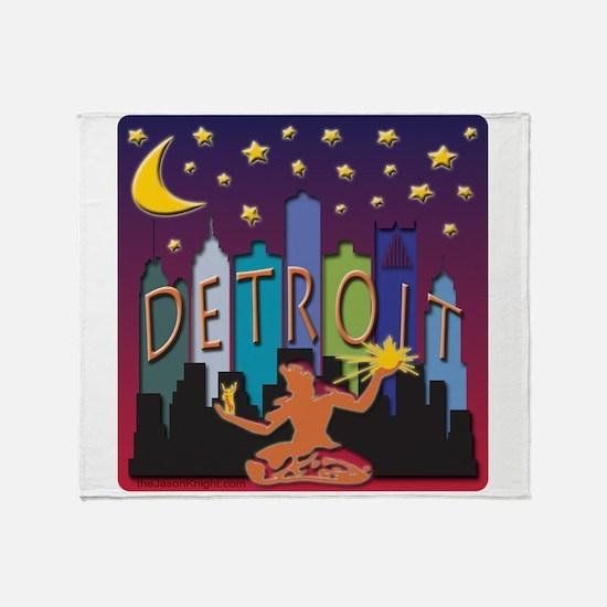 Detroit Skyline Mega Color Throw Blanket