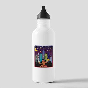 Detroit Skyline Mega Color Water Bottle