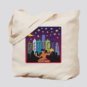 Detroit Skyline Mega Color Tote Bag