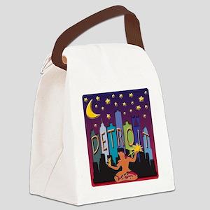 Detroit Skyline Mega Color Canvas Lunch Bag