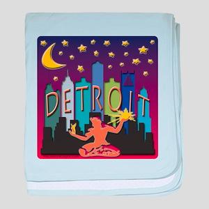 Detroit Skyline Mega Color baby blanket