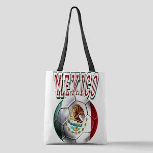 Futbol Mexicano Polyester Tote Bag