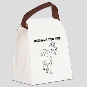Custom Billie Goat Sketch Canvas Lunch Bag