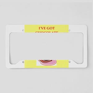 CHOCOLATE License Plate Holder