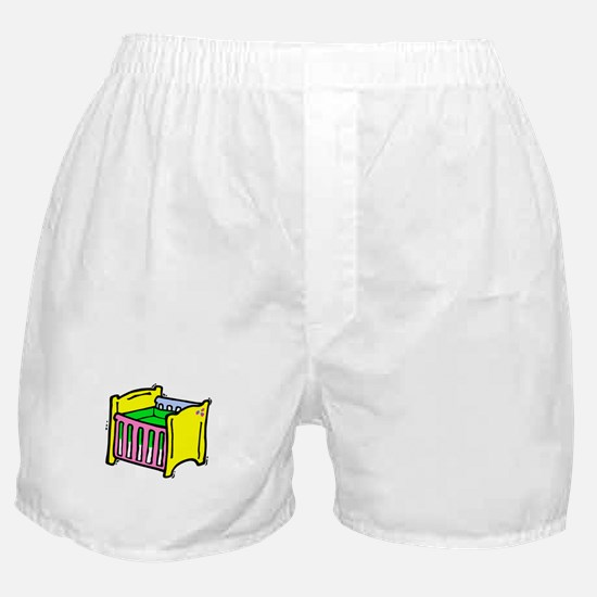 baby crib colorful graphic Boxer Shorts