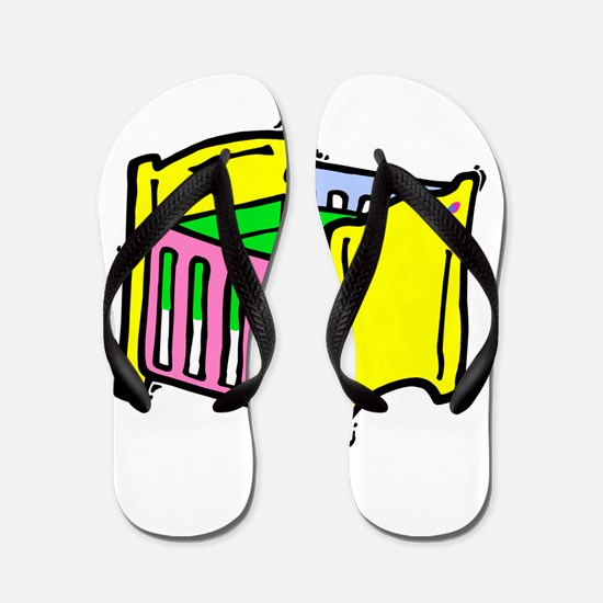 baby crib colorful graphic Flip Flops