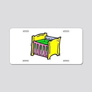 baby crib colorful graphic Aluminum License Plate