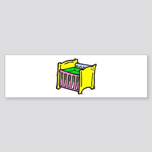 baby crib colorful graphic Bumper Sticker