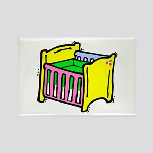 baby crib colorful graphic Rectangle Magnet
