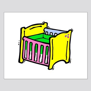 baby crib colorful graphic Posters