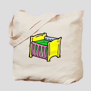 baby crib colorful graphic Tote Bag