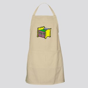 baby crib colorful graphic Apron