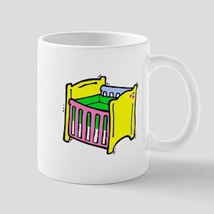baby crib colorful graphic Mug